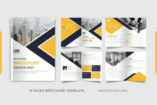 8 Pages Brochure Template Design Graphic Print Templates By grgroup03