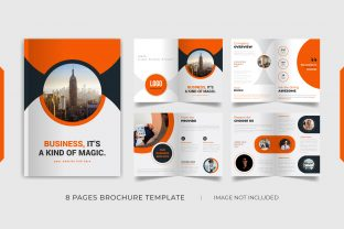 8 Pages Red Brochure Template Design Graphic Print Templates By grgroup03