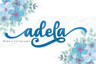 Print on Demand: Adela Script & Handwritten Font By niyos.studio