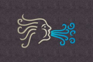 Print on Demand: Aeolos Wind Travel & Season Embroidery Design By embroidery dp