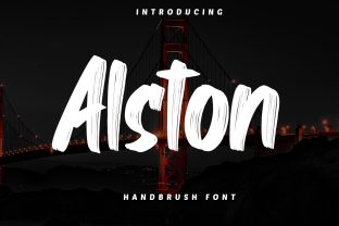 Print on Demand: Alston Display Font By Skiiller Studio