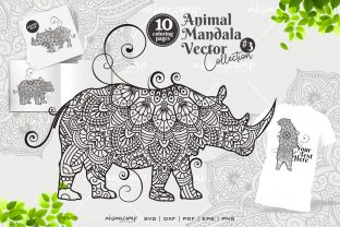 Print on Demand: Animal Mandala Vector Coloring Book #3 Graphic Coloring Pages & Books By Ahsancomp Studio