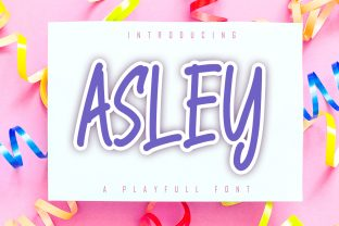 Print on Demand: Asley Display Font By Skiiller Studio