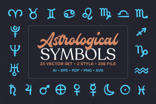 Print on Demand: Astrological Symbol Vector Set Graphic Icons By Telllu