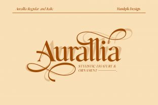 Print on Demand: Aurallia Serif Font By handpik