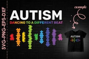 Print on Demand: Autism Dacning to a Different Beat Graphic Crafts By Utenbaw