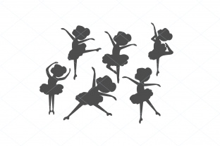 Print on Demand: Ballerina SVG Bundle, Ballerina Clip Art Graphic Illustrations By TheLoveByrds