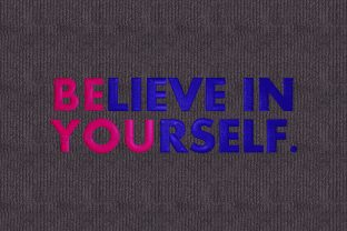 Be You  Believe in Yourself Inspirational Embroidery Design By Digital Creations Art Studio