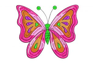 Beautiful Butterfly Bugs & Insects Embroidery Design By BabyNucci Embroidery Designs