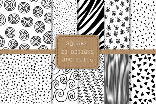 Black and White Doodle Papers - 2