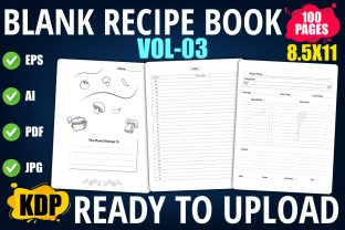 Blank Recipe Book with Index Graphic KDP Interiors By XpertDesigner