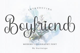 Print on Demand: Boyfriend Script & Handwritten Font By Guritatype