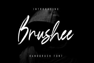 Print on Demand: Brushee Script & Handwritten Font By Skiiller Studio