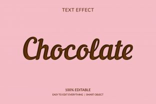Print on Demand: Chocolate Candy Style 3d Text Effect Graphic Layer Styles By grgroup03