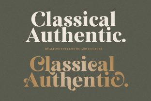 Print on Demand: Classical Authentic Serif Font By senzana