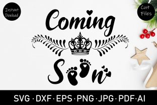 Coming Soon Baby Shower Svg Graphic Crafts By Rizu Designs