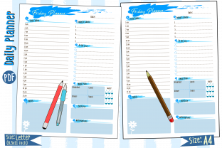 Print on Demand: Daily Planner Schedule Page Graphic Print Templates By Kiang Stock Digiart