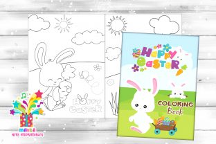 Print on Demand: Easter Coloring Book PDF READY to PRINT Graphic Coloring Pages & Books Kids By marilakits