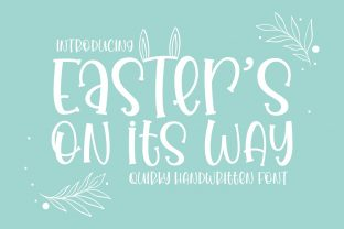 Print on Demand: Easter's on Its Way Display Font By Rifki (7ntypes)