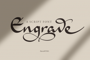 Print on Demand: Engrave Script & Handwritten Font By BaronWNM