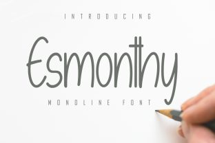 Print on Demand: Esmonthy Script & Handwritten Font By Skiiller Studio