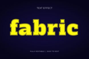 Fabric Embroidery Style Text Effect Graphic Layer Styles By grgroup03