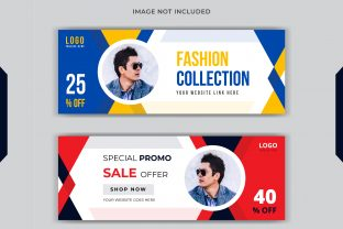 Fashion Sale Social Post Facebook Cover Graphic Print Templates By grgroup03