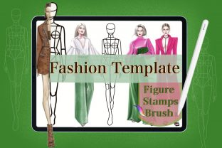 Fashion Body Stamps,Procreate Brushes Graphic Brushes By Digital ideas Art