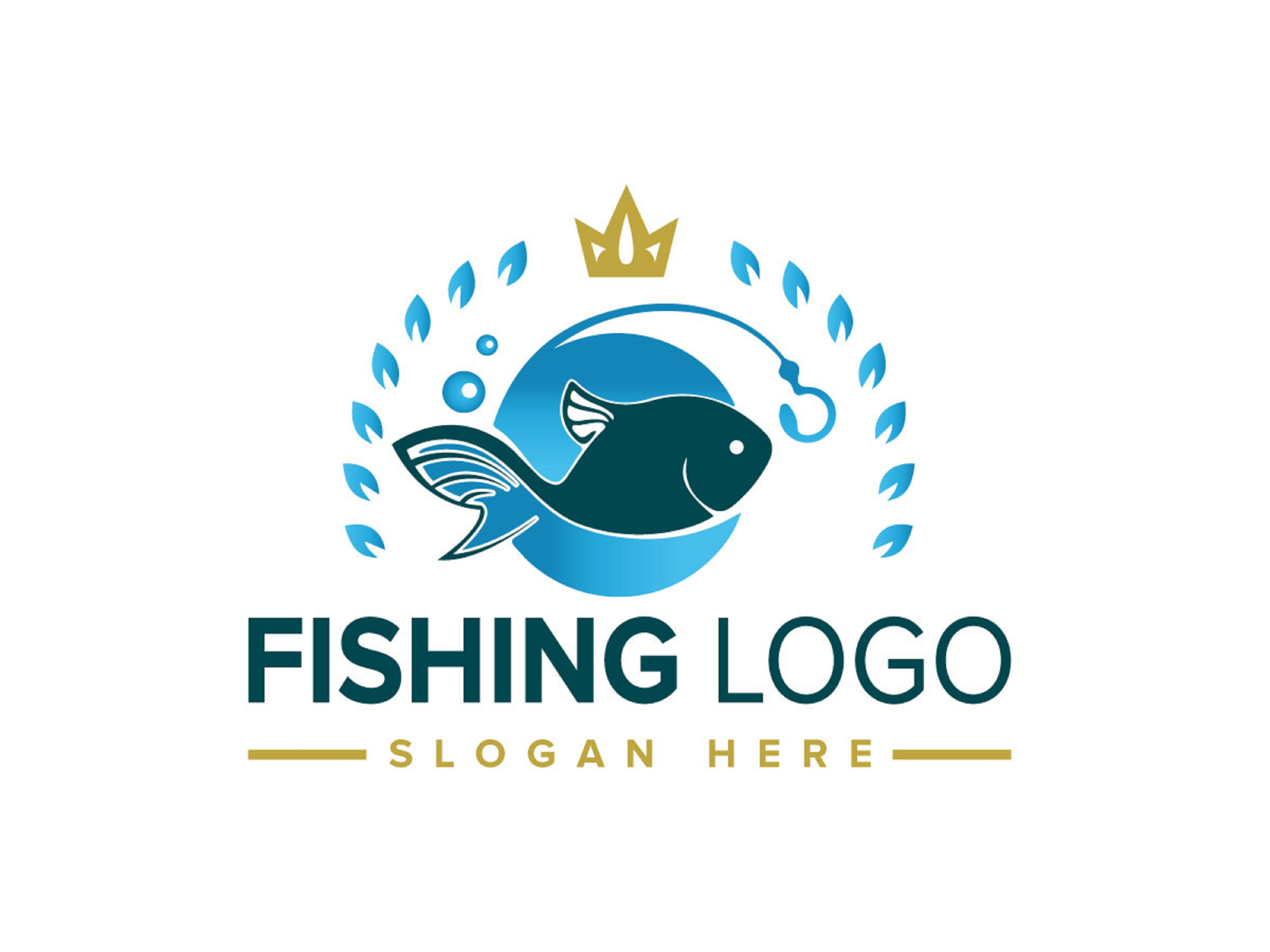 Download Fishing Logo Illustration Vector Graphic By Freelancer Azad Creative Fabrica
