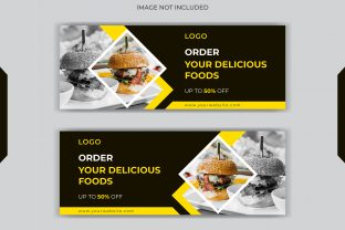 Food Social Post Facebook Cover Banner Graphic Web Templates By grgroup03