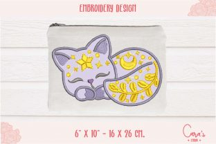 Galaxy Cat Applique Baby Animals Embroidery Design By carasembor