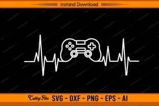Game Heartbeat - Gamer Graphic Print Templates By sketchbundle