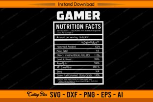 Gamer  Nutrition Facts Graphic Print Templates By sketchbundle