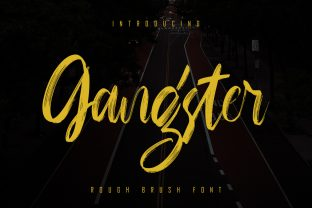 Print on Demand: Gangster Script & Handwritten Font By Skiiller Studio