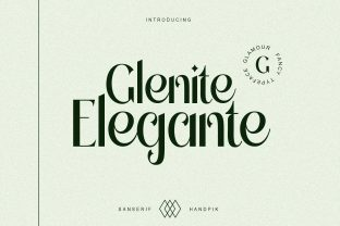 Print on Demand: Glenite Elegante Serif Font By handpik