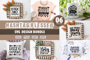 Print on Demand: Hashtag Blessed SVG Bundle Graphic Crafts By PrintableSvg