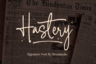 Print on Demand: Hastery Script & Handwritten Font By Sronstudio