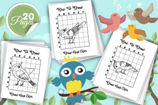 Print on Demand: How to Draw Birds Coloring Pages - Vol 2 Graphic KDP Interiors By TrendColors