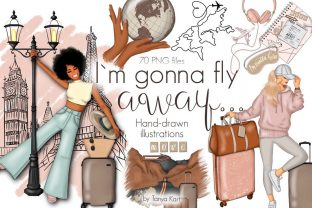 I'm Gonna Fly Away Graphic Illustrations By Tanya Kart