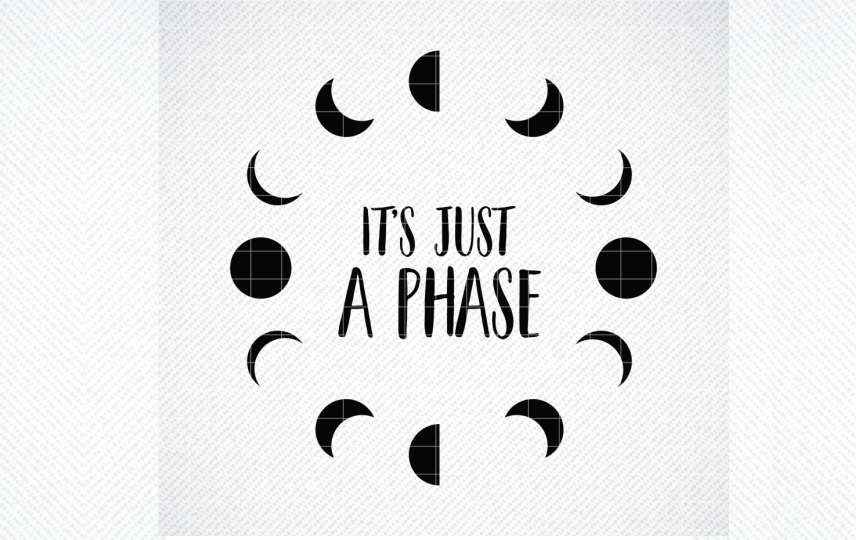 It's Just a Phase Svg, Moon Phases... SVG File