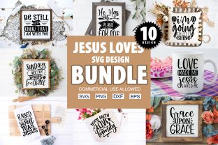 Print on Demand: Jesus Loves Y'all SVG Bundle Graphic Crafts By PrintableSvg