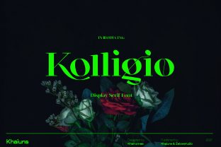 Print on Demand: Kolligio Serif Font By khaiuns
