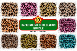 Print on Demand: Leopard Background Sublimation Bundle Graphic Backgrounds By SineDigitalDesign