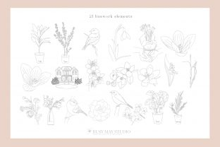Print on Demand: Line Art Creator and Patterns Vector SVG Graphic Illustrations By Busy May Studio 4