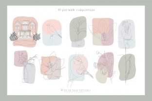 Print on Demand: Line Art Creator and Patterns Vector SVG Graphic Illustrations By Busy May Studio 6