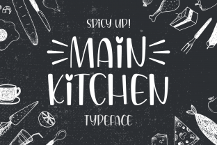 Print on Demand: Main Kitchen Script & Handwritten Font By Creative Fabrica Fonts