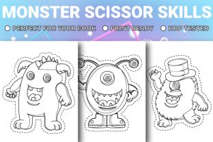 Print on Demand: Monster Scissor Skills Pages - Vol 2 Graphic KDP Interiors By Trend Color