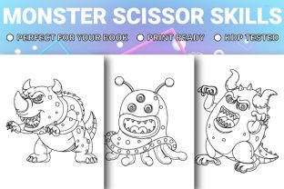 Print on Demand: Monster Scissor Skills Pages - Vol 3 Graphic KDP Interiors By Trend Color