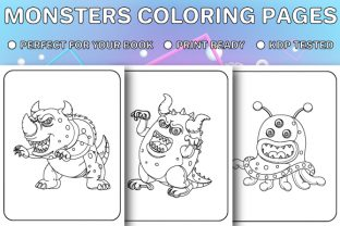 Print on Demand: Monsters Coloring Pages for Kids - Vol 3 Graphic Coloring Pages & Books Kids By Trend Color