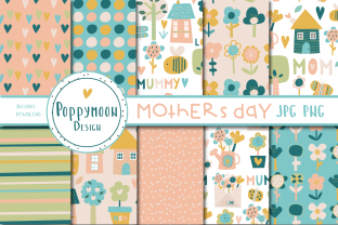 Print on Demand: Mothers Day Paper Set Graphic Patterns By poppymoondesign